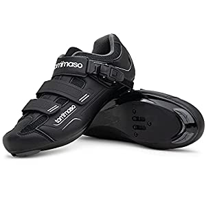 Tommaso Strada 200 Dual Cleat Compatible Road Bike, Touring, Indoor Cycling Shoe with Buckle - 44
