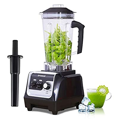 Professional Blender, Countertop Blender for Kitchen with 2200-Watt and Variable Speed for Smoothies, Ice and Frozen Fruit, Self-Cleaning 64 oz Container(Black)