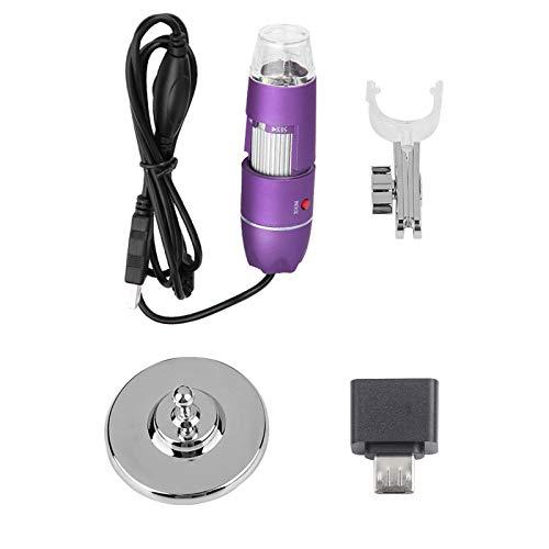 Microscopio USB 50X-500X, microscopio digital Endoscopio USB Probador de belleza para la piel Detector de folículos capilares y cuero cabelludo 50X-500X Aumento Endoscopio mini cámara con adaptador OT
