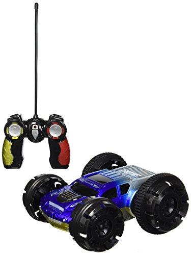 Velocity Toys Mando a Distancia de Doble Cara para Carreras de Acrobacias, Recargable, con acción de Giro de 360 Grados, Luces Intermitentes (los Colores Pueden Variar)