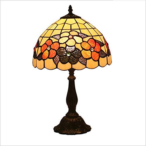Litaotao Tiffany stijl glasschilderij lamp handgemaakte klassieke antieke look patroon nachtkastje verlichting lampenkap decoratie verlichting slaapkamer mode lamp