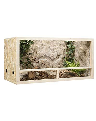 Holzkonzept OSB-Terrarium 100 x 50 x 50 cm Seitenbelüftung