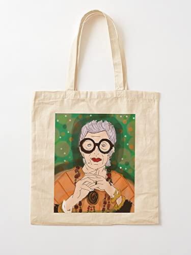Générique Fashion Pop Iris Apfel Icon Art | Bolsas de lona con asas, de algodón duradero