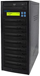 PlexCopier 24X SATA 1 to 7 CD DVD duplicator Writer Copier Tower (7 Targets)