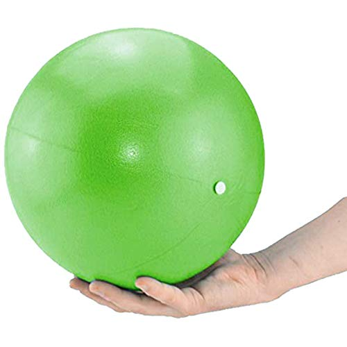 Mini Exercise Barre Ball 9 Inch for Yoga,Pilates,Stability Therapy, Body Balance Physical Core Training Gym Anti Burst and Slip Resistant Balls with Inflatable Straw (Green)