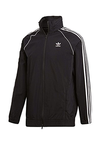 adidas Herren SST Windbreaker Trainingsjacke, Black, L