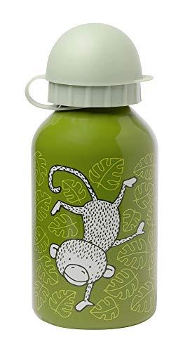 sigikid, Mädchen und Jungen, Edelstahl Trinkflasche, Motiv Affen, Grün, 25035