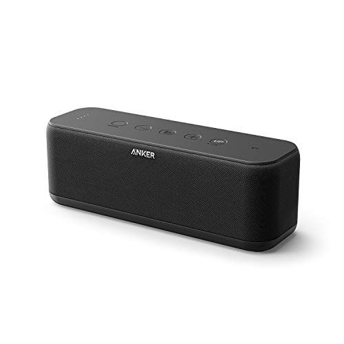 Upgraded, Anker Soundcore Boost Bluetooth Speaker with Well-Balanced Sound, BassUp, 12H Playtime,...