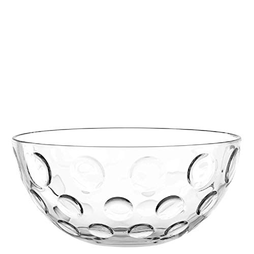 Leonardo Cucina Optic Glas-Schale, runde Schale aus Glas, spülmaschinengeeignete Salat-Schüssel, Ø 295 mm, 066338