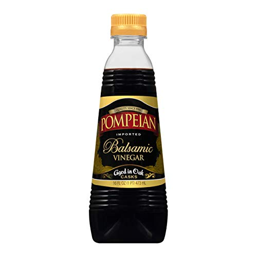 Pompeian Gourmet Balsamic Vinegar, Perfect for Salad Dressings, Sauces, Seafood & Meat Dishes, Naturally Gluten Free, 16 FL. OZ.