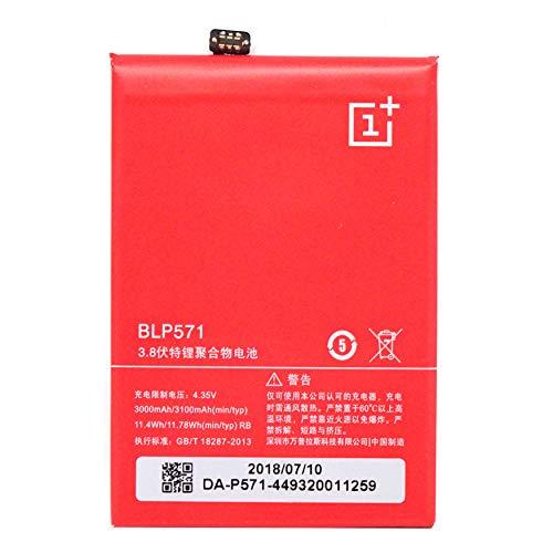 Batería original OnePlus 3100 mAh 11,78 Wh para One Plus One Bulk BLP571