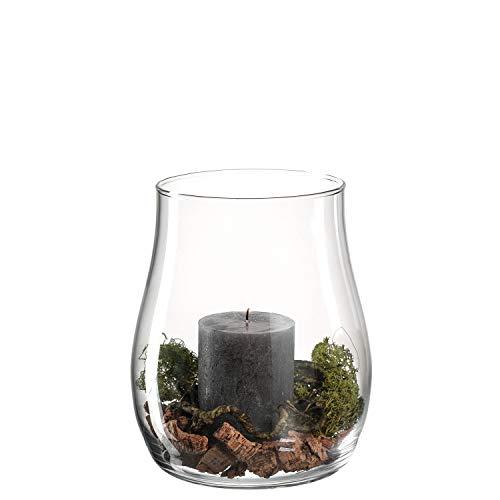 Leonardo Casolare Windlicht mit Kerze und Deko, handgefertigter Teelicht-Halter, Kerzen-Halter aus Glas, Höhe: 225 mm, 012983