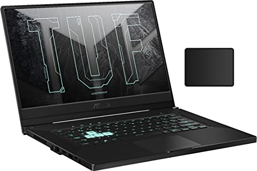 Asus TUF Dash 15.6' 144Hz FHD Gaming Laptop | 11th Generation Core i7-11370H | NVIDIA GeForce RTX 3060 | 16GB DDR4 | 512GBSSD | Backlit Keyboard | Windows 10 | Gray | with Woov Mouse Pad Bundled