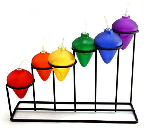 PHS Rainbow Oil Lamp - Stair Step Style, (All 6 Rainbow Colors)