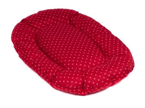 adena Hundekissen oval 108 x 68 cm - Tupfen rot