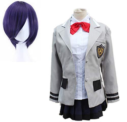 VICTORDOMO Disfraz de Tokio Ghoul Toka Kirishima Identical uniforme escolar + pelucas para Halloween, fiesta, carnaval, vida nocturna, conciertos, boda disfraz M