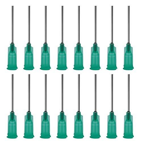 Shintop Spritzen Nadeln mit Stumpfer Spitze, 2,5cm 18G Verteiler-Spritzen mit Luer-Steck für Nachfüllung von E-Liquids, Tinten und Spritzen (100 Stück)