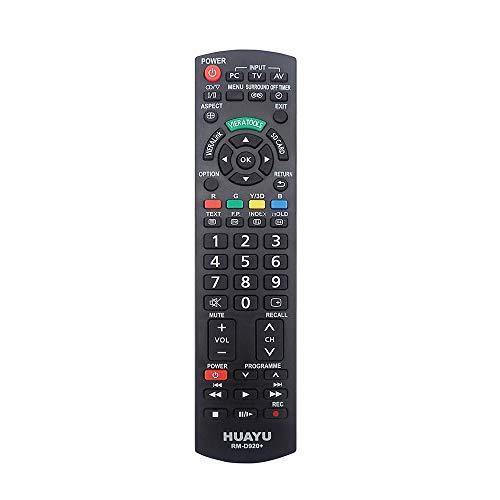 Ersatzfernbedienung für Panasonic Fernseher, LCD LED TV Remote Control, Schwarz(Neu, Versiegelt)
