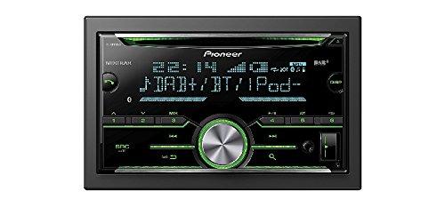 Auto Radio CD Receiver Pioneer 2 DIN DAB Bluetooth met antenne voor Toyota Aygo AB1 2005-2014 incl inbouwset zwart