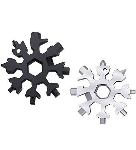 Regali Natale 18-in-1 Multi-Tool Snowflake, Multi Attrezzo in Acciaio Portatile, Idee Regalo Natale,...