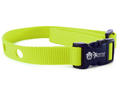 Extreme Dog Fence Dog Collar Replacement Strap - Lime - Compatible with Nearly All Brands and Models of Underground Dog Fences