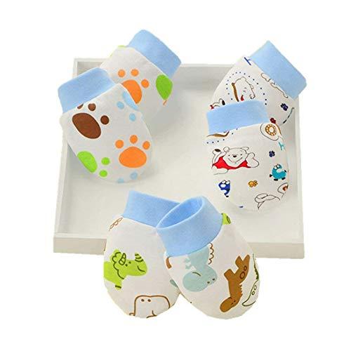 LOVARTS BEAUTY 3 Pack Baby Handschuhe aus Baumwolle Neugeborene Mädchen Junge Kratzhandschuhe & Fäustlinge gegen Kratzen