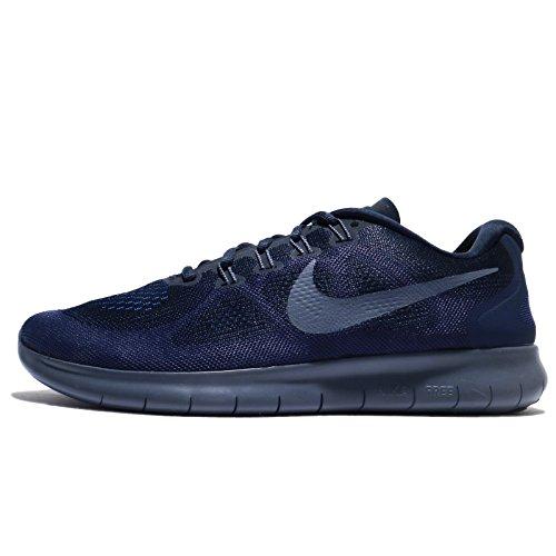 Nike Free RN 2017, Scarpe Running Uomo, Blu (Obsidian/Light Carbon-Neutral Indigo 408), 39 EU
