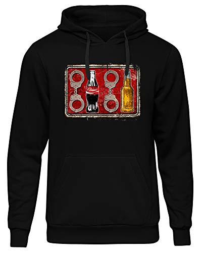 Uglyshirt89 Acht Cola Acht Bier Männer Herren Kapuzenpullover | Fussball 1312 ACAB Hooligan Ultra (XL)