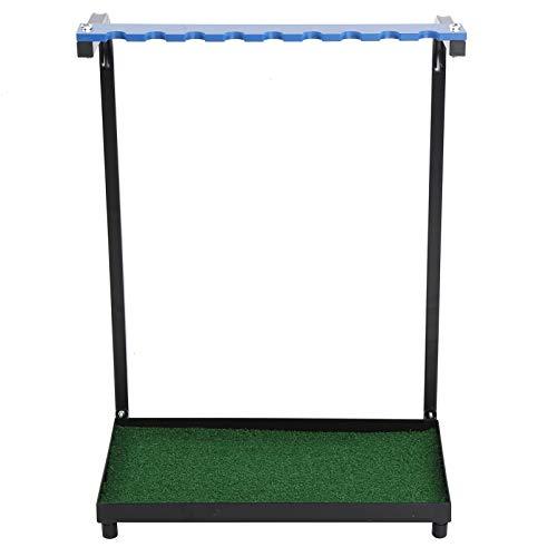 WNSC Golf Putter Rack, 9 Löcher Langlebiges Werkzeug liefert tragbaren, hochwertigen Stahlclub-Organizer für den Course Club