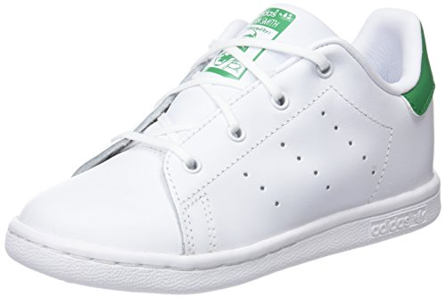 adidas Stan Smith, Zapatillas Unisex Niños, Blanco (Footwear White/Footwear White/Green 0), 26 EU