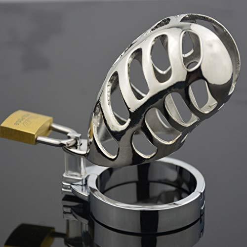 CJWWEI Keuschheitsschloss-Metall-Erwachsene Gesundheitswesen-Produkte der Männer Edelstahl (Size : XS)