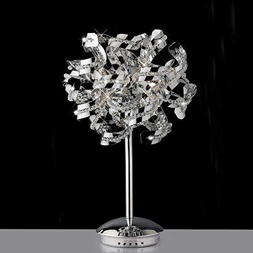 Diyas Esme IL30558 - Lámpara de mesa (5 unidades, cromo y cristal)