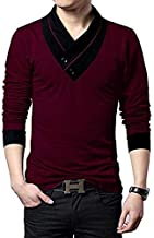 Fashion Gallery Tshirts for Men|V-Neck Tshirts for Mens Full Sleeves|Men's Regular Fit Cotton Tshirt