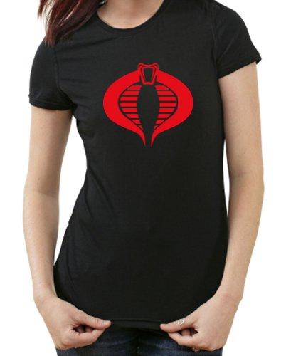 GI Joe Cobra Kai Kult GIRLIE DAMEN T-Shirt, G.I., Kobra, schwarz, XXL