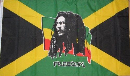 Geschenken 4 Alle gelegenheden Beperkte SHATCHI-665 5ft x 3ft Grote Bob Marley Vrijheid Jamaica Caribbean Nationale Vlaggen Ondersteuning Party Decoraties, Multi
