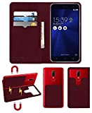 Acm Magic Magnetic 2 in 1 Leather Flip Case/Back Cover Compatible with Asus Zenfone 3 (Ze552kl) Mobile Flap Wine Red