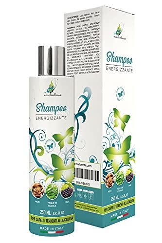 Missclaretta.com Shampoo Anticaduta Capelli Uva, Rucola e Noci - Energizzante Naturale Made in Italy