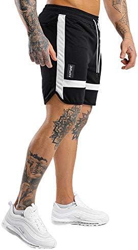 PIDOGYM Men's Shorts Workout Running Quick Dry Lightweight with Zipper Pockets