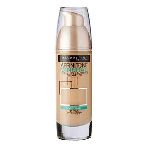 3 x Maybelline Affinitone Mineral Foundation SPF18 30ml - 021 Nude
