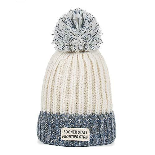 Dames gebreide hoed, herfst en winter erwten hoed, dames haar bal, warme hoed, outdoor kleur bijpassende ski hoed