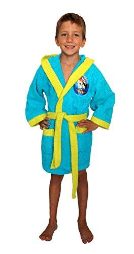 Secaneta Bademantel für Kinder, bestickt, Farben, Modell Adventure Pirat, für Kinder von 6 bis 8 Jahren, mehrfarbig