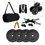Gym Insane Equipment for Home 10 kg(2.5 kg x 4) PVC,14 inches Dumbbell