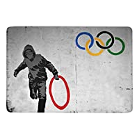 Steven Robert Banksyによる落書き芸術 カーペット ラグ ラグマット 洗える 滑り止め オールシーズン おしゃれ 居間用 食卓用 150×100cm