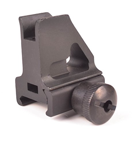 Ozark Armament Rail Mount Front Iron Sight - Rail Height - Best Military Grade Iron Sight with All Metal Construction - Easy Adjust Elevation Post for Accuracy - Designed to Mount on Picatinny Rails