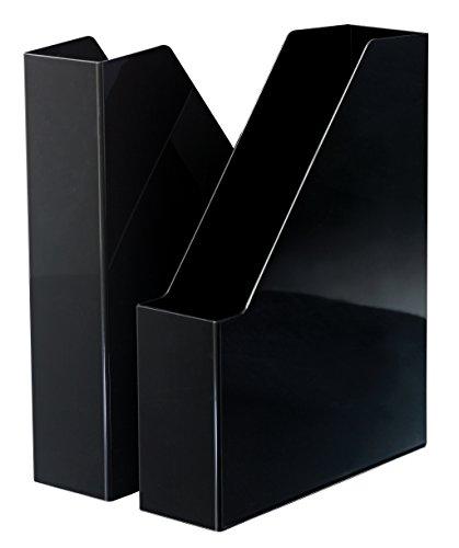 HAN i-Line 16501-13 - Archivador de pie (2 unidades, elegante y moderno, para cuadernos, revistas y carpetas hasta A4/C4), color negro ⭐