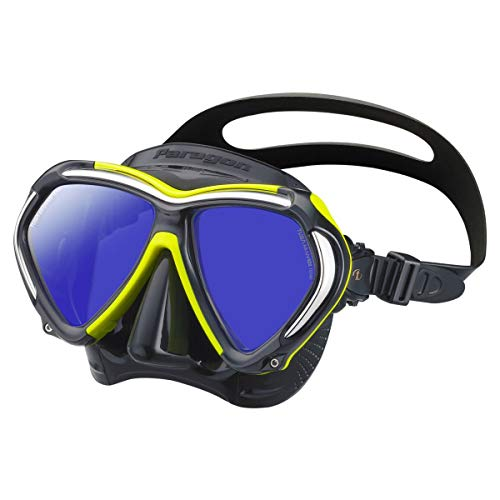 TUSA M-2001 Paragon Scuba Diving Mask, Black/Flash Yellow
