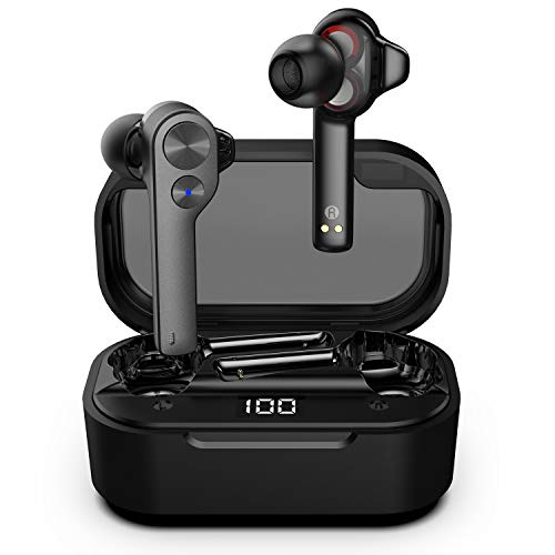 Wireless Earbuds, UiiSii Bluetooth Earbuds Dual Driver in Ear Wireless Headphones, True Wireless Earbuds HiFi Bass Stereo Bluetooth Earphones with LED Display USB-C Quick Charge Built-in Microphone