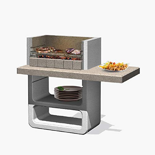 Xodo Store Barbecue SAROM in muratura Modello Agadir, Funziona a carbonella o Legna