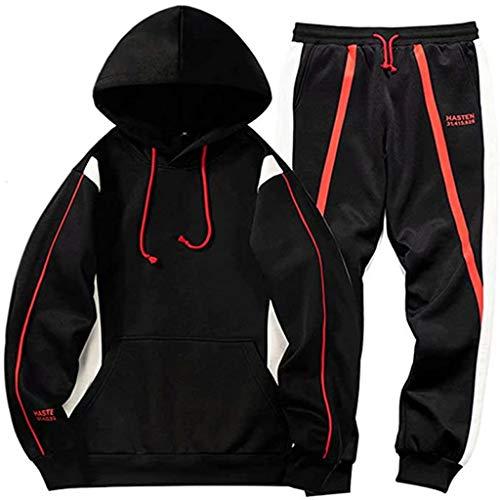 CCM Manntrainingsnazug Set Men Sport Jogging Pullover-Lose Hoodies Pullover Für Männer Boy Teens PL,Schwarz,M