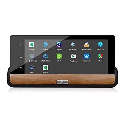SODIAL 6.86 Zoll Android 3G Auto DVR GPS Kamera Dash Kamera Full HD 1080p Videorekorder Wifi Bluetooth Registrator Dual-Objektiv Dvrs Dashcam